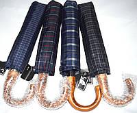 Мужские зонты Sonsa Автомат на 9 спиц с ручкой крючком под дерево
