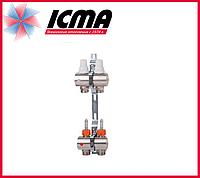 """Коллектор с расходомерами 1"""" на 2 выхода Icma № К013"""