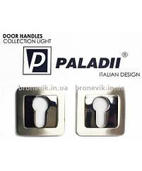 Накладка под цилиндр PALADII  квадратная SN/CP сатен/хром
