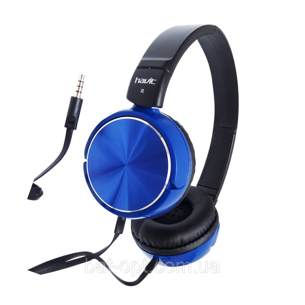 Наушники с микрофоном Havit HV-H2178D черно-голубые