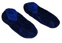 Тапочки - ботиночки мужские домашние махровые 18205 Blue длина подошвы 27 см
