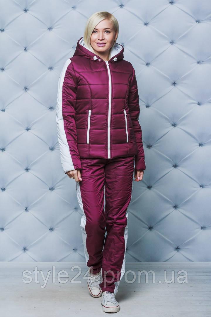 Жіночий теплий спортивний костюм на флісі  .Р-ри 42-58