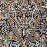 Фергана 1856-16, павлопосадский платок из вискозы с подрубкой, фото 10