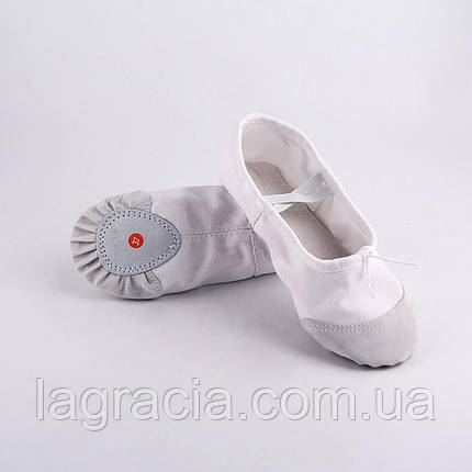 Белые балетки для танцев детские и взрослые, фото 2