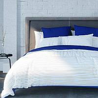 Постельное белье  ТЕП™  «Stripe blue» 180х215см  Ранфорс, фото 1