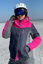Жіноча гірськолижна куртка FREEVER малинова