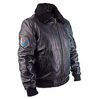 Мужская летная куртка LUKA кожаная черная