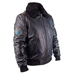 Летная куртка LUKA кожаная черная