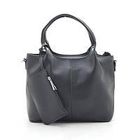 Женская сумка A6746 черная, кожзам
