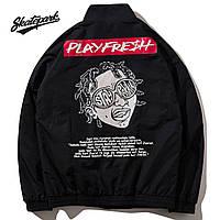 Мужская Куртка (весна\осень) в стиле Skate Park - PlayFresh черныя (унисекс)