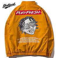 Мужская Куртка (весна\осень) в стиле Skate Park - PlayFresh желтая (унисекс)
