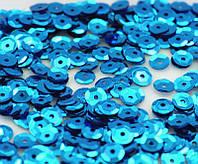 (20 грамм ≈ 1500шт) Пайетки Ø6мм, круглые гранёные Цвет - Бирюзовый