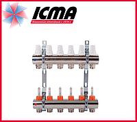 """Коллектор с расходомерами 1"""" на 6 выходов Icma № К013"""