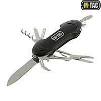 Нож M-tac складной малый (7 инструм.) Steel/Black, фото 1