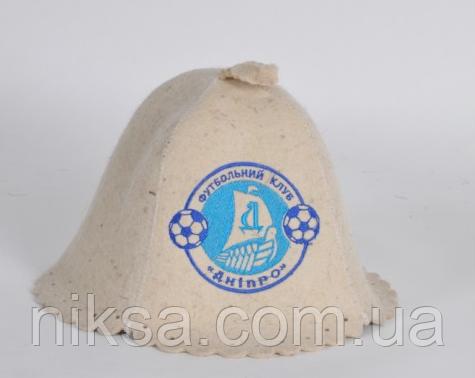 dfc4e3226052 Шапка для бани и сауны войлочная Футбольный клуб Днипро - Интернет-магазин