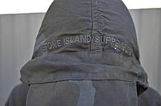 Чоловіча куртка (весна, осінь) в стилі Stone Island x Supreme чорна, фото 3