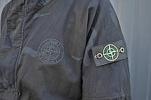 Чоловіча куртка (весна, осінь) в стилі Stone Island x Supreme чорна, фото 2
