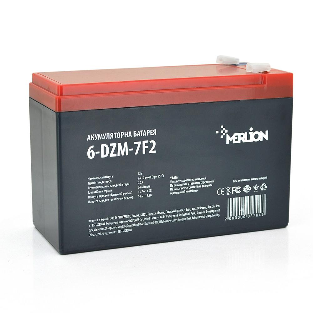 Тяговый аккумулятор AGM MERLION 6-DZM-7, 12V 7Ah F2, ( 150 x 65 x 95 (100) Q5