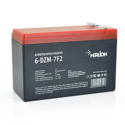 Тяговая аккумуляторная батарея AGM MERLION 6-DZM-7, 12V 7Ah F2, ( 150 x 65 x 95 (100) Q5
