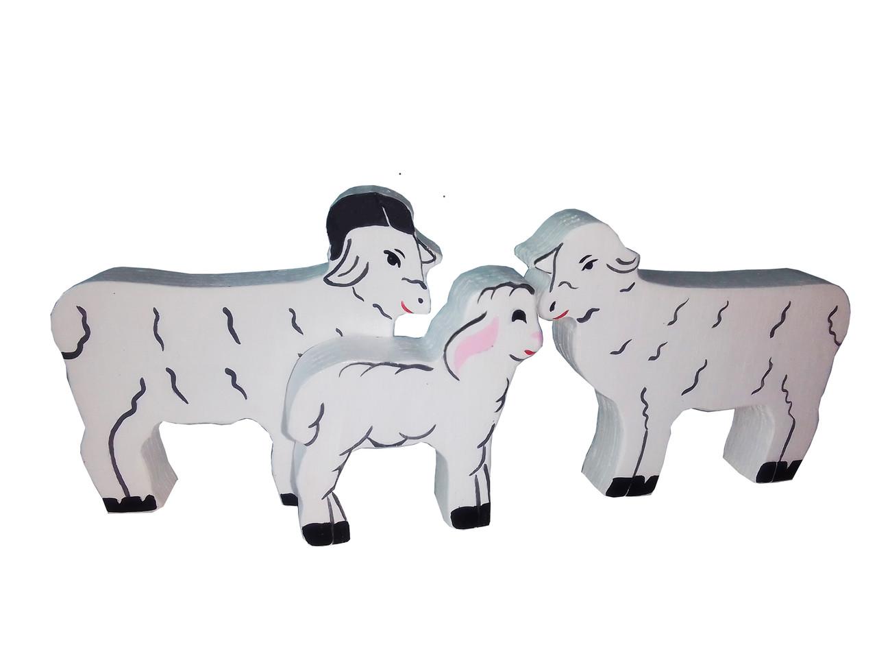 Набір HEGA Родина овець мама тато дитинча свійські тварини