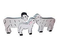 Набір HEGA Батьківщина овець мама тато дитинча свійські тварини, фото 1