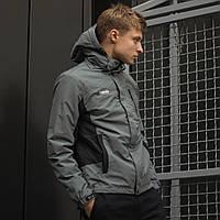 Мужская куртка (весна\осень) в стиле Columbia (водонепроницаемая) серая