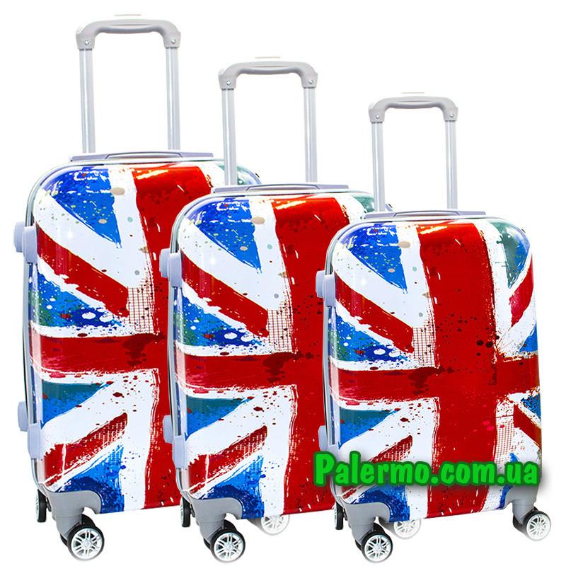 Набор пластиковых чемоданов на колесах (комплект из трех чемоданов) Great Britain