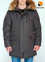 Зимова чоловіча парку куртка Olymp – Montana , Color: Gray, фото 1