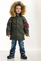 Детская зимняя парка хаки Olymp — Аляска N-3B KIDS, Color: Khaki