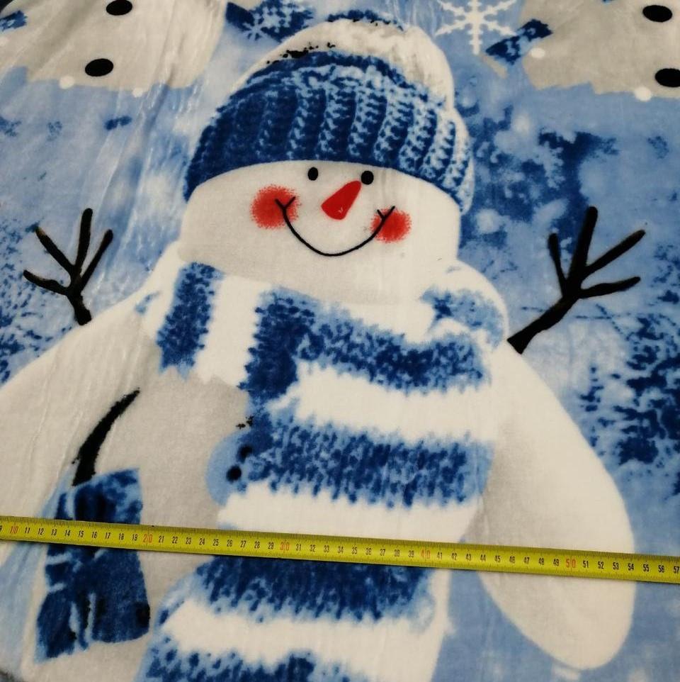 Велсофт (махра) Снеговик состав 100% п/э.