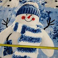 Велсофт (махра) Снеговик состав 100% п/э., фото 1