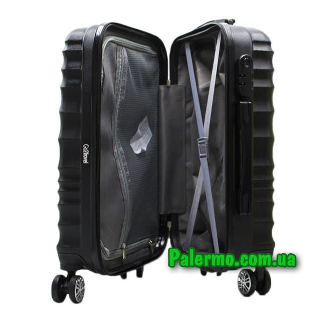пластиковый дорожный чемодан Black