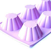 Силиконовая форма для выпечки в духовке (Кекс) розовый