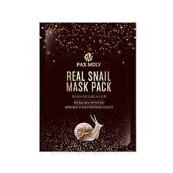 Зволожуюча тканинна маска з муцином равлика Pax Moly Real Snail mask pack