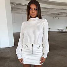 Женский тёплый свитер-гольф с широким рукавом 42-44 р, фото 2