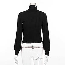 Женский тёплый свитер-гольф с широким рукавом 42-44 р, фото 3