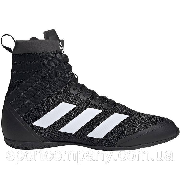 Боксерки Adidas SpeedEx 18, черные с белыми полосами