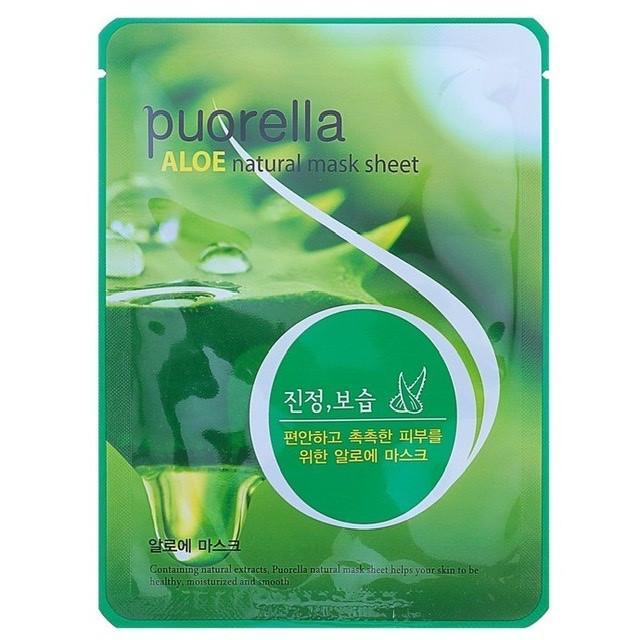 Тканинна маска з екстрактом алое Puorella Aloe mask sheet