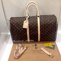 Уценка! Сумка Louis Vuitton Keppall кожа, классика монограмм, Люкс, 55 см