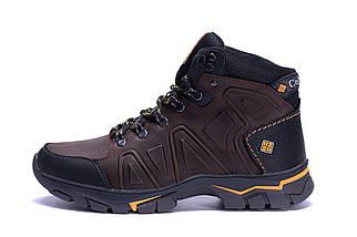 Мужские зимние кожаные ботинки коричневые (40-45) ПК-C-126-6 кор, фото 3