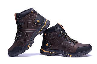 Мужские зимние кожаные ботинки коричневые (40-45) ПК-C-126-6 кор, фото 2