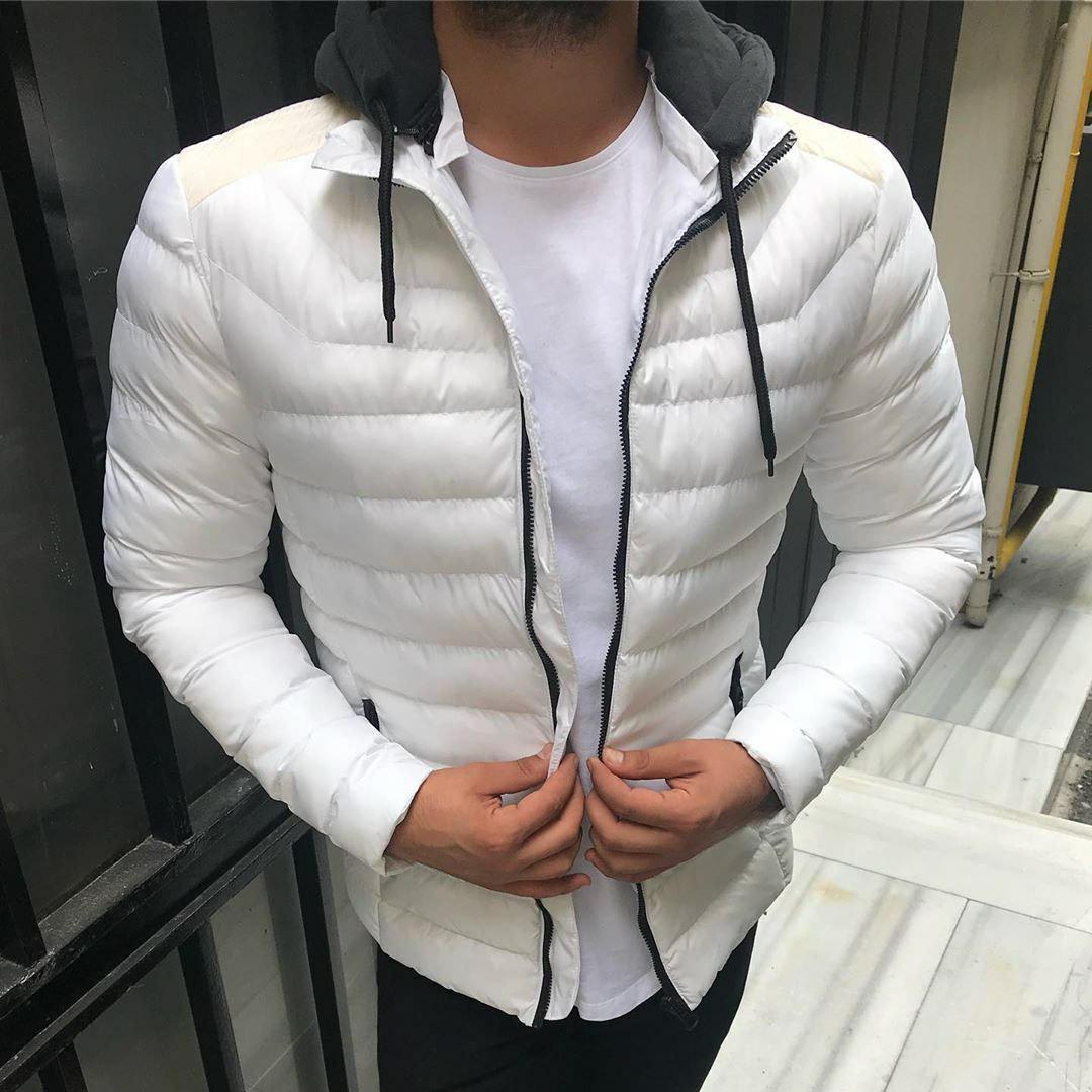 Мужская куртка белая cm2