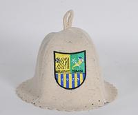 Шапка для бани и сауны войлочная Футбольный клуб Металлист
