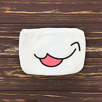 Хлопковая anime маска  Тongue 2 (белый)