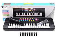 Детский музыкальный синтезатор с микрафоном ( пианино)
