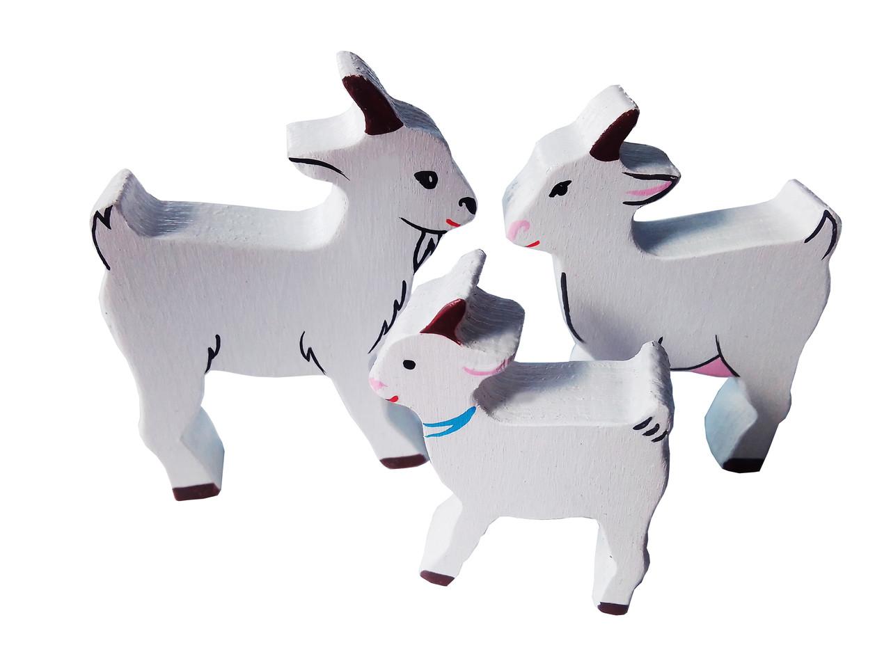 Набір HEGA Родина кіз мама тато дитинча свійські тварини