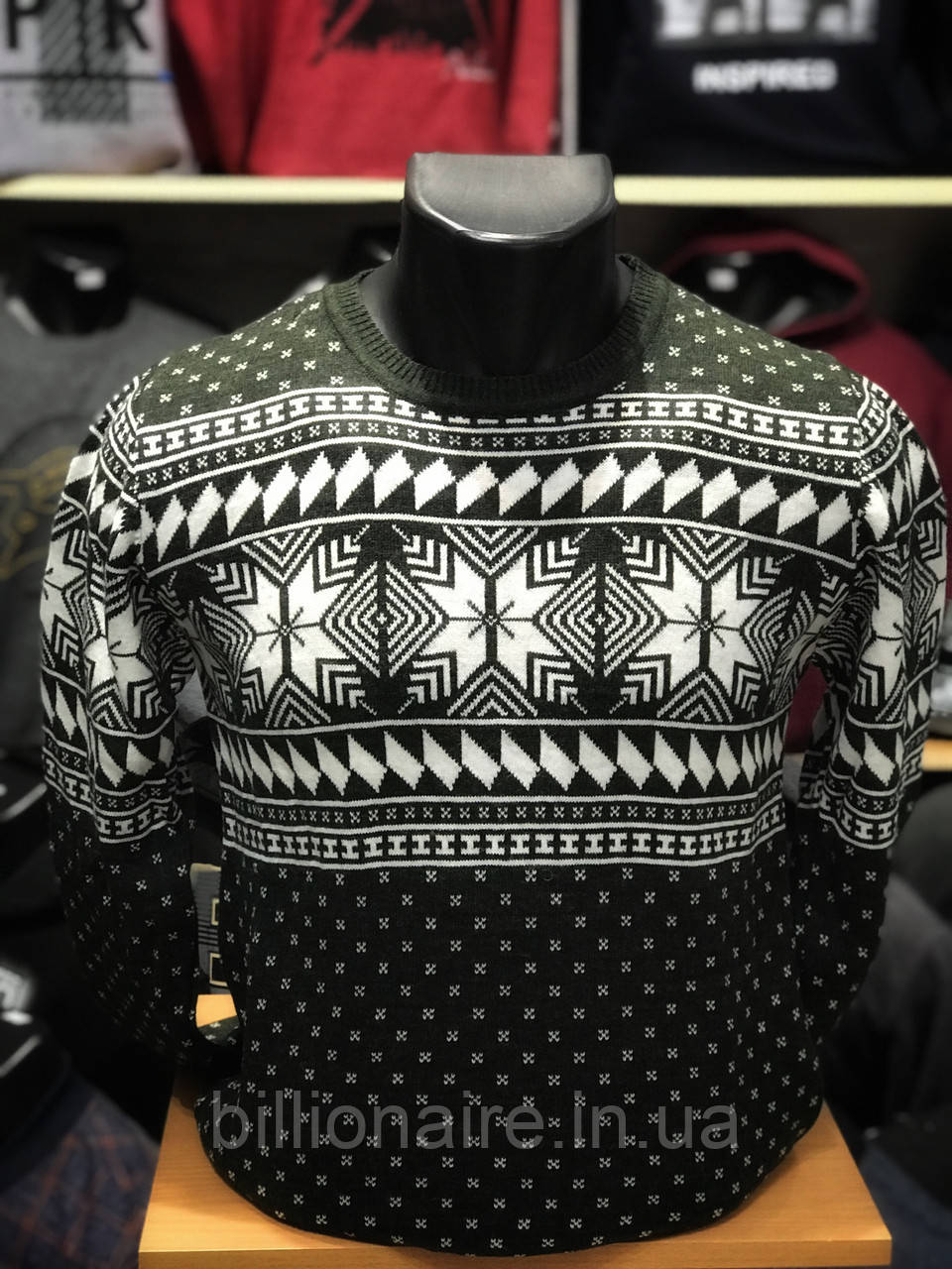 Новорічний светр сніжинка Т