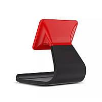 Универсальная подставка-держатель 2в1 для смартфонов и планшетов с подвижной верхней частью (черно-красный)