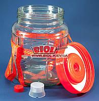 Банка стеклянная 5,7л для хранения продуктов с пробкой в крышке, гидрозатвором и стропой для переноски