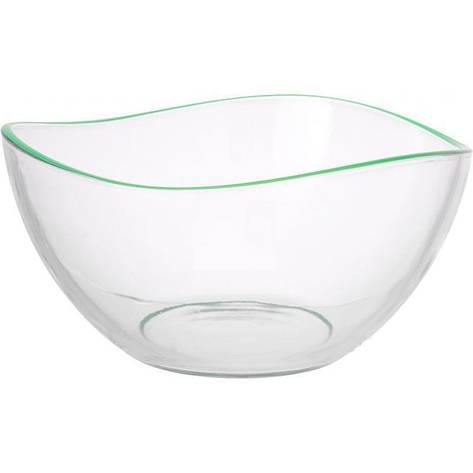 Салатница, окрашенный ободок, 21 см, зеленый, фото 2